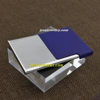 The sapphire blue rare designed stainless steel cardcase