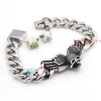 Magical Black & Silver Skull Reinforcements Stainless Steel Jewelry