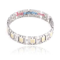 The elegant amulet stainless steel bracelet
