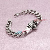 Silver Cool Skull Bracelet Stainless Steel jewelry