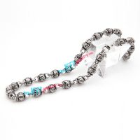Three-dimensional skull fashion stainless steel necklace