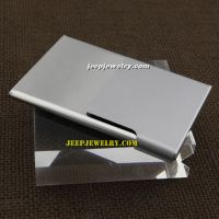 The mirror shape with half silver overlap stainless steel cardcase