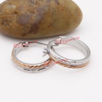 Elegant rose gold stamping stainless steel earrings