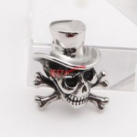 cute design 316L stainless steel skeleton head silvery fashionable pendant
