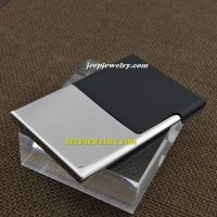 The mytery of half black shape silver stainless steel cardcase