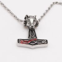 unique sheepshead buckle stainless steel glossy pendant of fashionable design