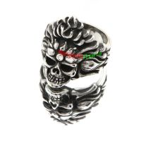 Angry Skull King Red Fashion Jewelry