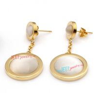 Simple Style of Golden Circle-Shape of Stainless Steel Fashion Men's Earrings