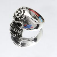 Beijing Opera Face Stainless Steel Skull Jewelry