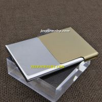 Half of brown with the meaning of independence stainless steel cardcase