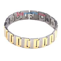 Gorgeous golden and silver stainless steel bracelet