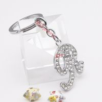 The sparkling diamond character alloy key ring