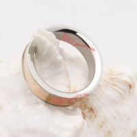 316L stainless steel unique glossy appearance silvery back dazzling ring