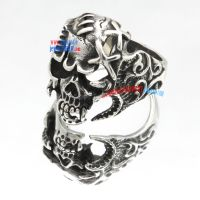 Cross Needle Skull Ring Wholesale Jewelry Manufacturers