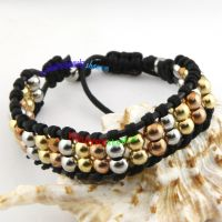 Special two parallel different beads fashion wholesale jewelry flexible rope bracelets