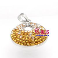 Golden dazzling diamond honeycomb stainless steel pendants for woman
