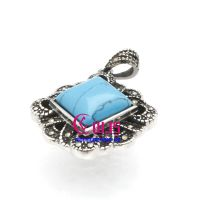 Classic and stylish blue sapphire retro stainless steel womens necklace pendants
