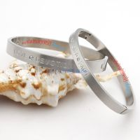 Wholesale trendy jewelry stainless steel bangles of LOVE DEVOTION