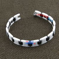 Black and white personalized ceramic tungsten steel bracelet
