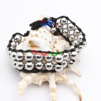 Glamorous convenient wholesale costume jewelry adorable black rope round beads bracelet