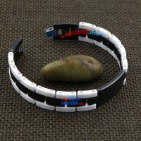 Individuality black and white tungsten steel ceramic bracelet