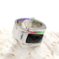 King's charm and power stainless steel black gemstone mens rings for sale