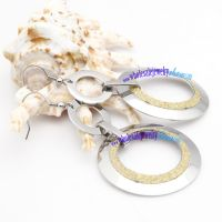 Particular Glossy Silver & Golden Hollow Lid Design of Stainless Steel Plain Bangles Sets