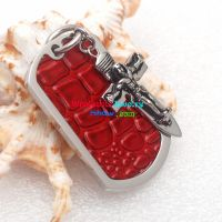 The perfect fashion jewelry will lead the fashion road red dog tag with cross