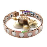 Retro Bronze Nostalgic Bracelet with Grey Sections Connect Tungsten Jewellery
