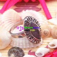 Vintage & Religious Style of Black & Silver Oval Shape of Stainless Steel Ring Charms
