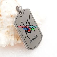 The spider with the red cross in the middle of the pendant is very cool