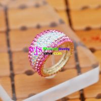 Pinky- white azure stone wide edge lovely sweet ring