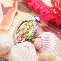 Special Madonna religious saint silver and golden refine pendant