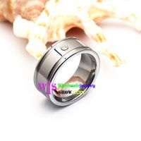 An Exquisite tungsten Ring with a shining stone, Specially Design For You