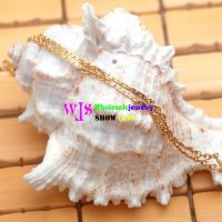 Gold plating stainless steel pendant necklace chain