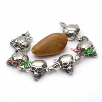 Pirate Style of Amazing 316L Skull bracelets wholesale Brothers Design casting Stainless Steel Bracelets
