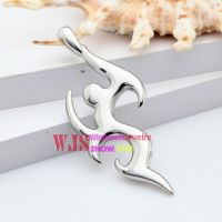 Stainless steel water and fire like wonderful shiny moving females like lovely pendant