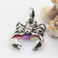 Stainless iron casting animal scorpion pendant cool for travel and manly