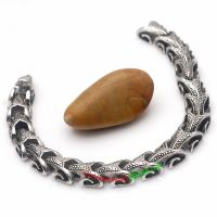Religious Style of Silver and Black Cloudy Pattern hot sale Stainless Steel Bracelet wholesale