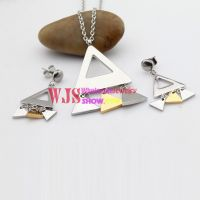 The Beautiful Triangle Shape of Earrings and Bracelet Made of Stainless Steel