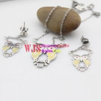 Cute bright color jewelry sets with shape of owl with good lucky and happiness