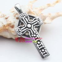 316l Stainless casting black and neat crossing pendant religious pray for happiness