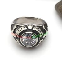 Black antique style ring made of stainless steel