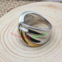 The elegant ring made of stainless steel