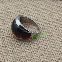 Black ring made of stainless steel gives you confident