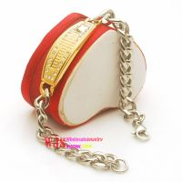 Thick metallic chain with embossed words plaque bracelet on sale
