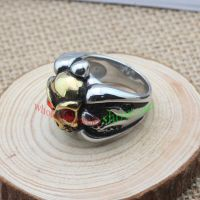 Golden skeleton shape of ring & made of stainless steel