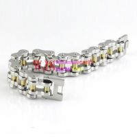 Golden and silver bracelet & made of stainless steel