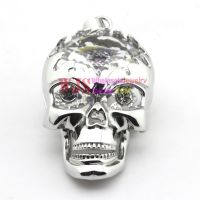 2014 new style big skull head shiny pendant stainless steel pendant 316L anti-rust cool fashion casting pendant 【73X40MM】