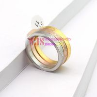 2014 new style casting ring colorful pattern stainless steel 316L ring anti-corrosion simple fashion ring